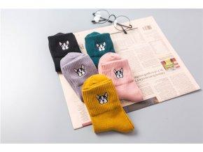 Ponožky s buldočkem 1