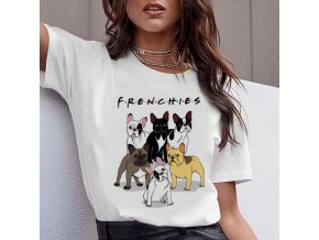 Triko buldoček frenchies! bílé 1