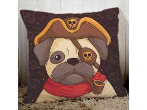 Potah na polštářek mopsík pirát