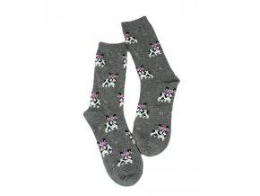 Ponožky buldoček s věnečkem