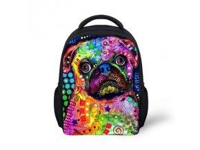 Malý bag  mopsík v barvičkách