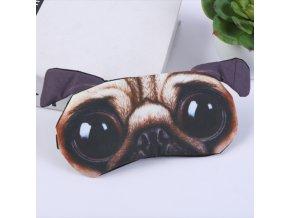 Maska na spaní mopsík vykulenec