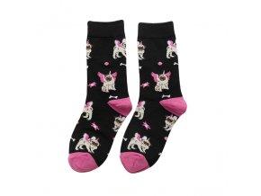 Ponožky mopsík jednorožec