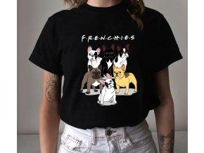 Triko buldoček frenchies! černé