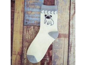 Ponožky s mopsíkem