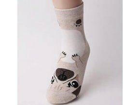 Ponožky s mopsíčkem 1