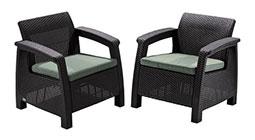 Záhradné ratanové kreslá a stoličky