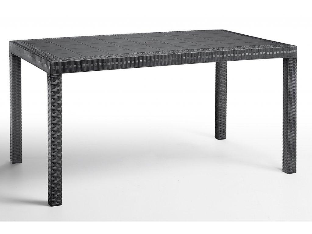 zahradny jedalensky stol ARLON antracit Ratanea.sk