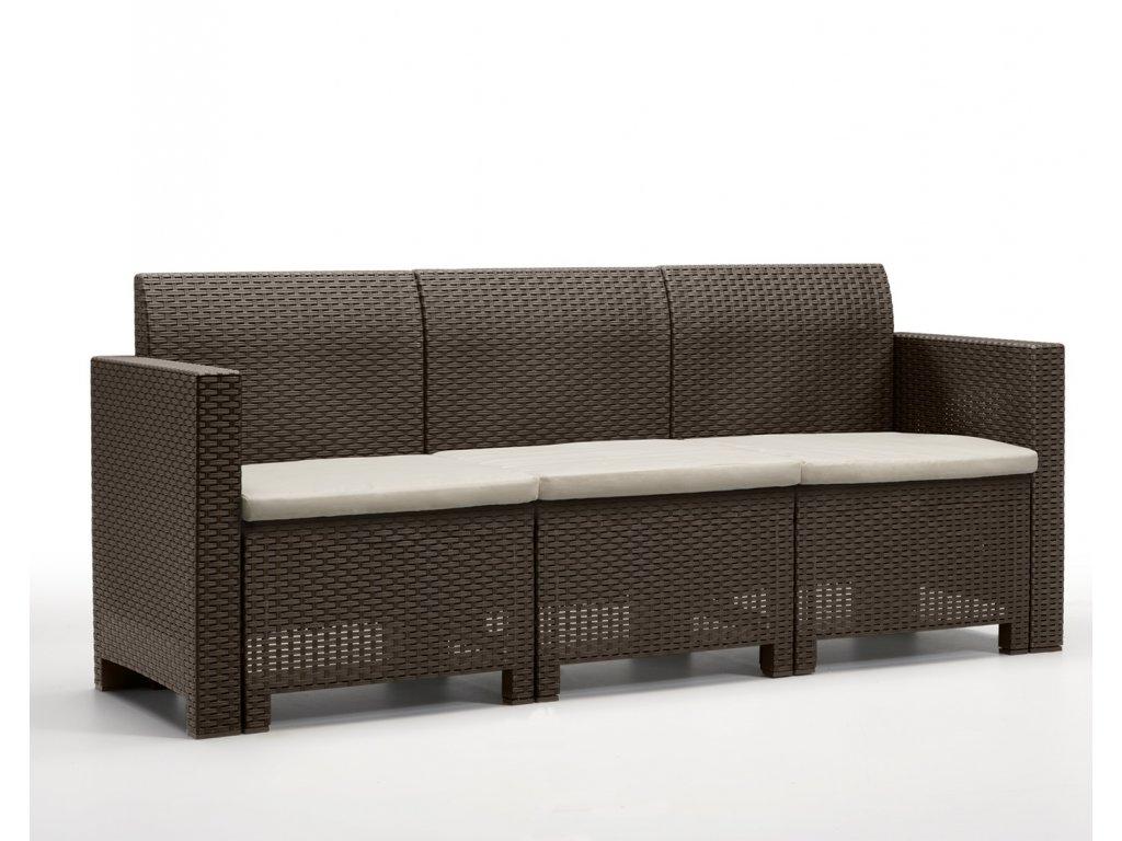 Zahradna lavica cambrai hneda ratanea.sk