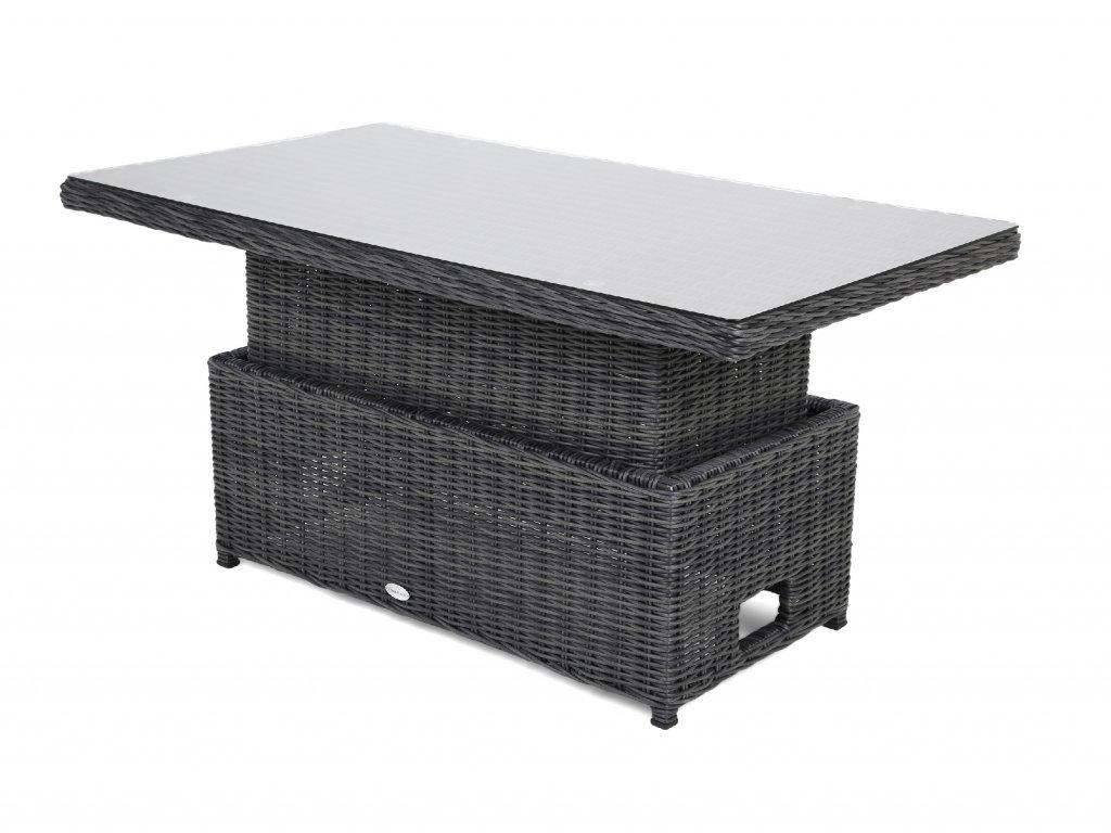 výškovo nastaviteľný záhradný ratanový stôl berkley santiago belmont savana svetlosivý ratanea.sk3