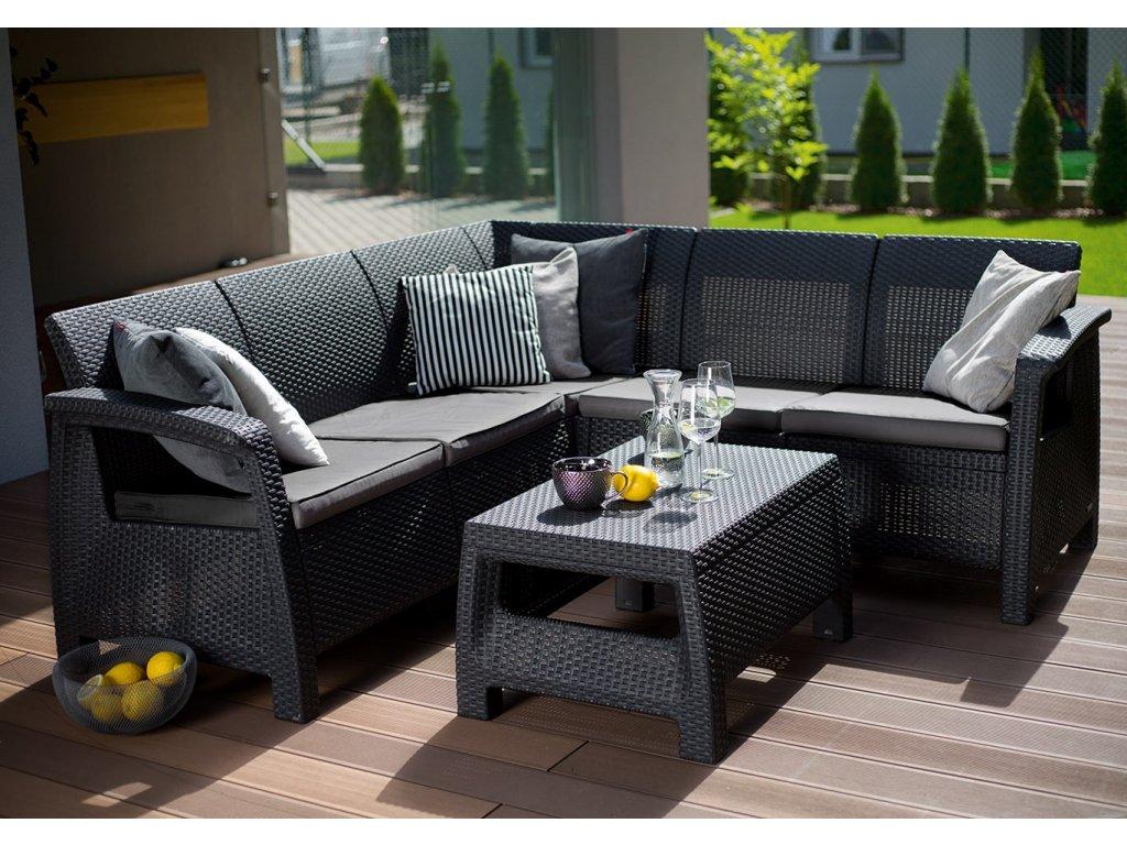 záhradný rohový nábytok karen antracitový ratanea.sk