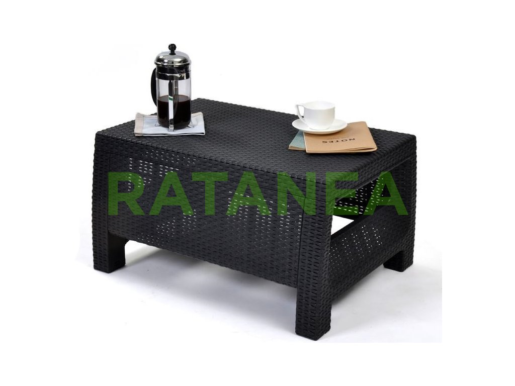 Malý kávový stolík KEREN čierny ratanea.sk