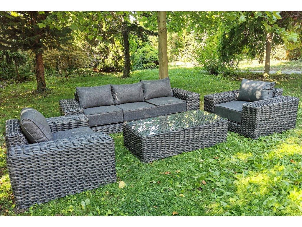moderný záhradný ratanový nábytok cayenne antracit ratanea.sk0