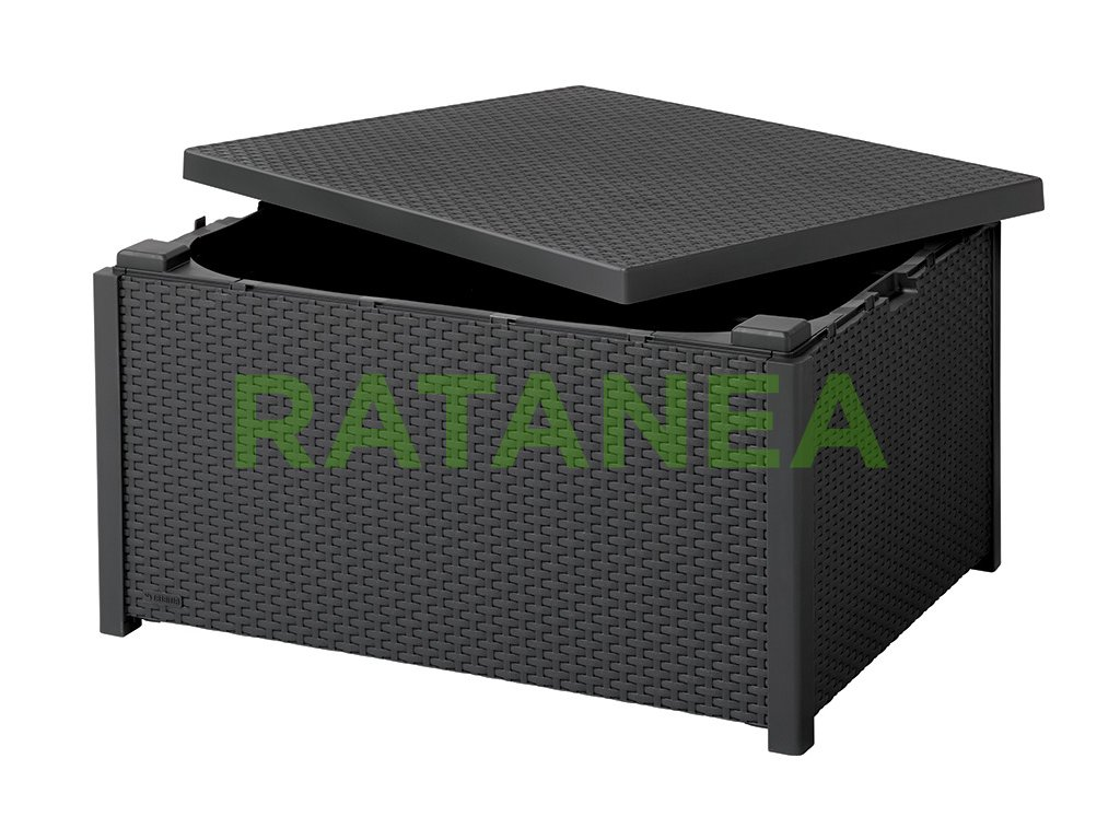zahradny ulozny box stolik s uloznym priestorom karen antracit ratanea.sk