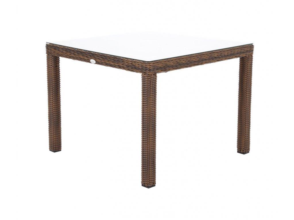 zahradny ratanovy jedalensky stol kingston 90 tmavohnedy ratanea.sk