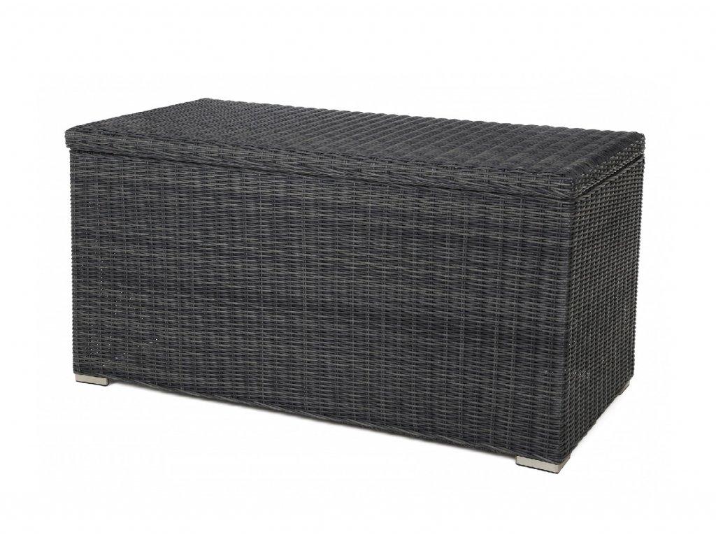 záhradný ratanový úložný box tmavosivý ratanea.sk