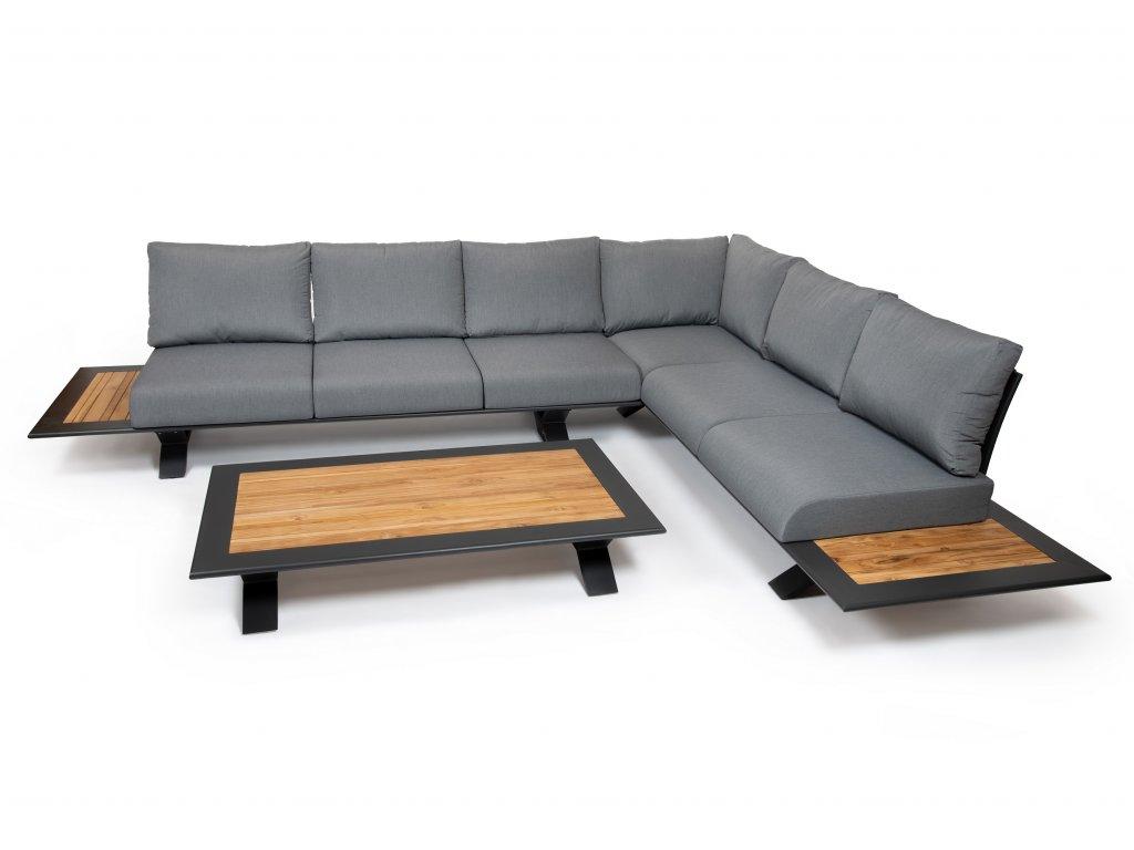 moderny luxusny hlinikovy zahradny nabytok paraiso 6 čierny ratanea.sk