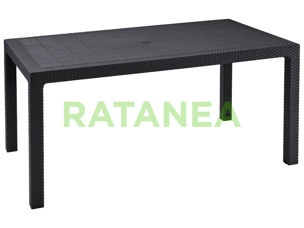 Jedálenský stôl 160x95 DOVER čierny ratanea.sk