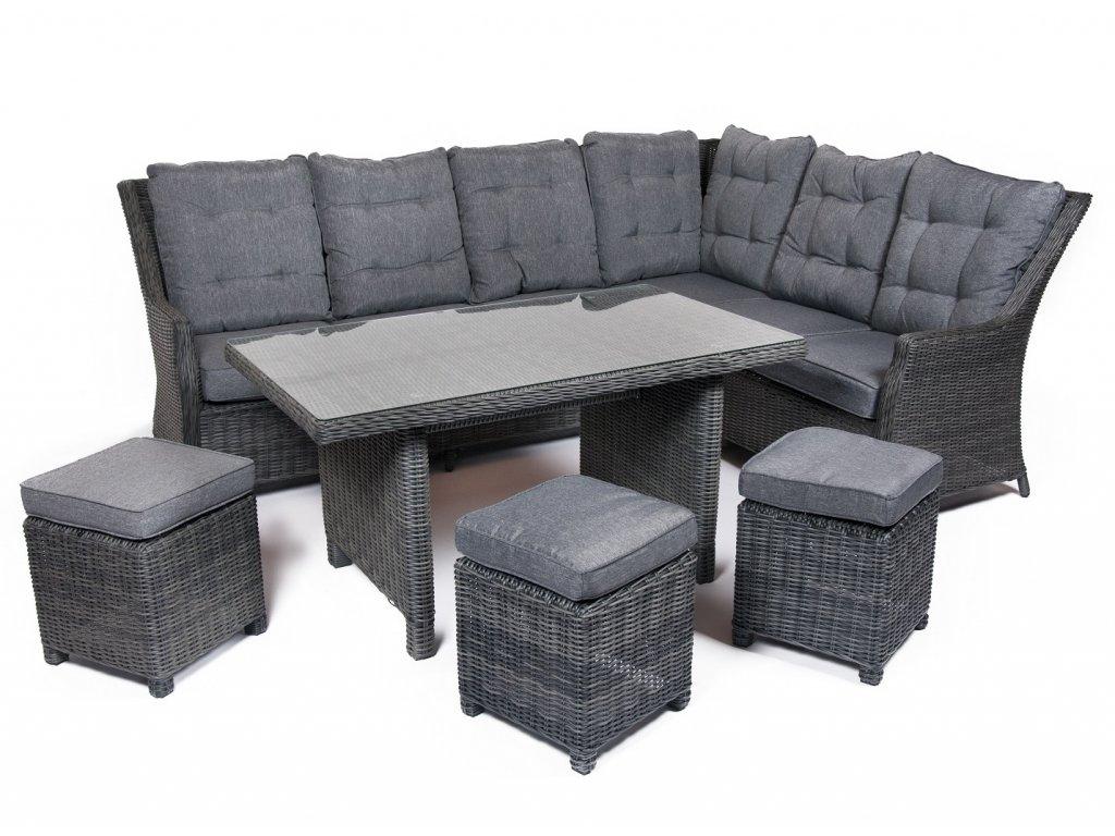Záhradný nábytok pre 6 a viac osôb v najvyššej kvalite v tmavosivom prevedení ratanea.sk