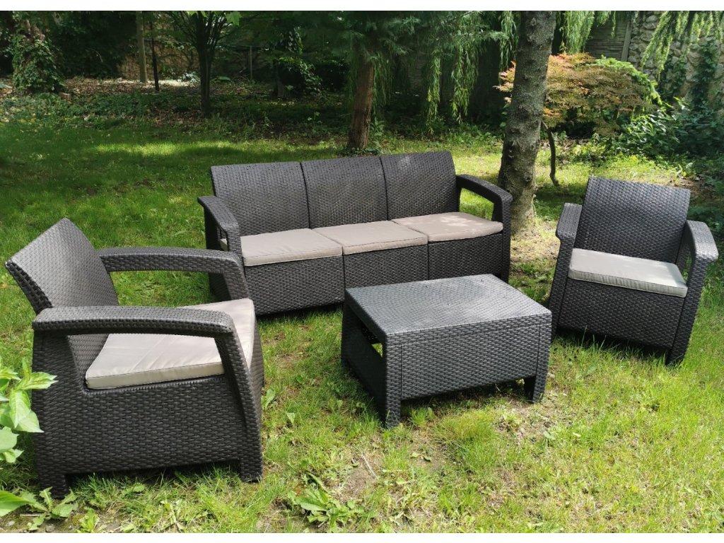 Set 3+1+1 a stolík ratanový záhradný nábytok ratanea.sk