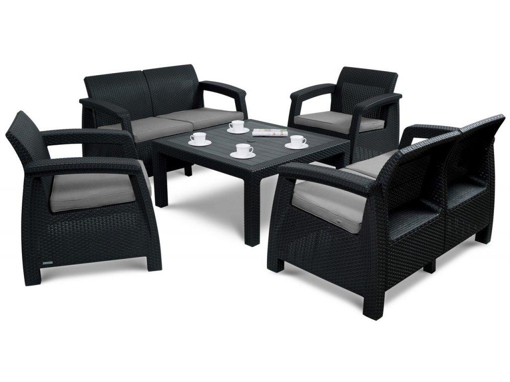 Záhradný set 2+2+1+1+ stôl s voliteľnou výškou ratanea.sk