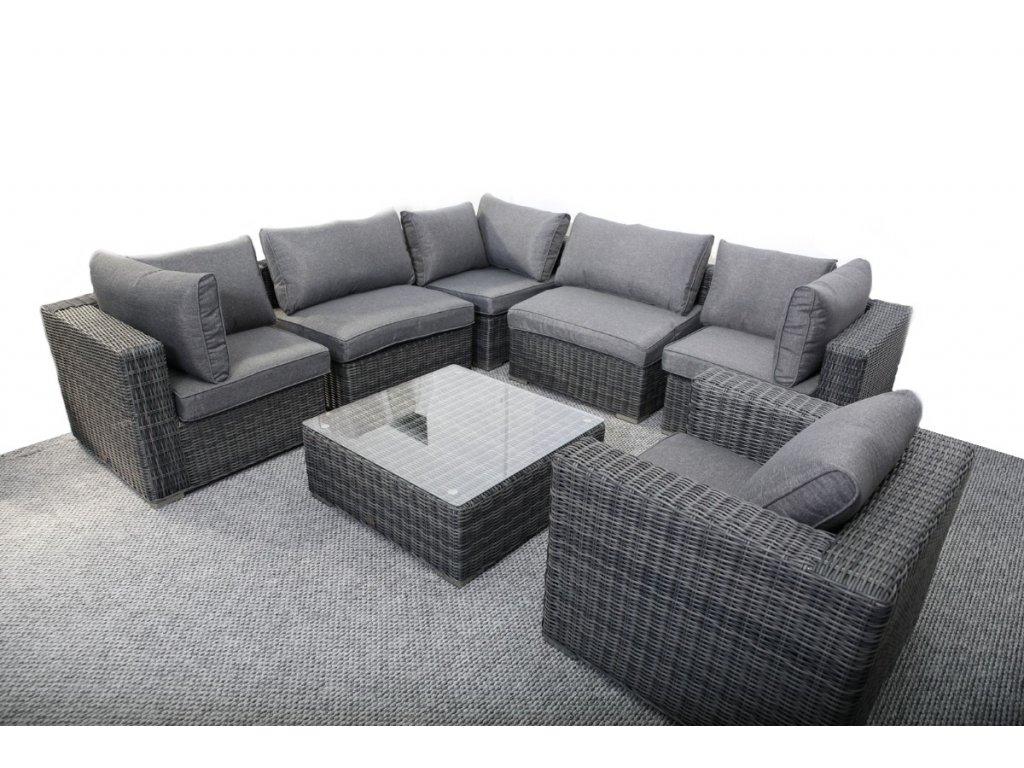 záhradný ratanový rohový nábytok CORON tmavosivy ratanea.sk2