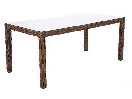 záhradný ratanový jedálenský stôl kingston 180 tmavohnedý ratanea.sk