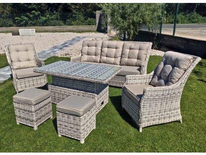 záhradný ratanový nábytok berkley 3 s výškovo nastaviteľným stolom ratanea.sk1