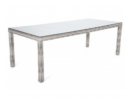 záhradný ratanový stôl kingston 230 svetlosivý ratanea.sk