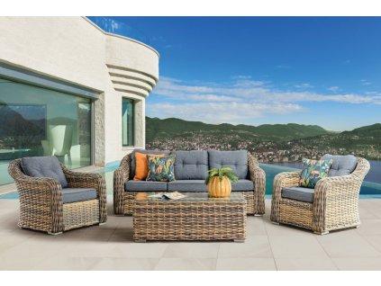 záhradný ratanový nábytok monte carlo žlto sivý ratanea.sk0