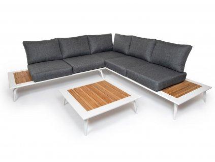 moderny luxusny hlinikovy zahradny nabytok bendigo 5 biely ratanea.sk