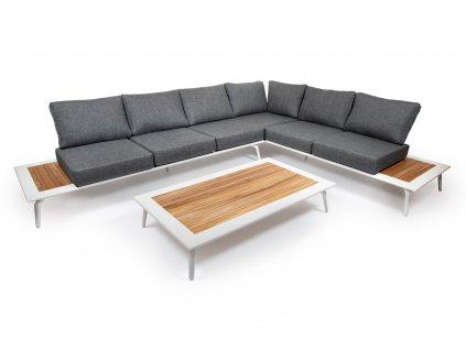 moderny luxusny hlinikovy zahradny nabytok bendigo 6 biely ratanea.sk