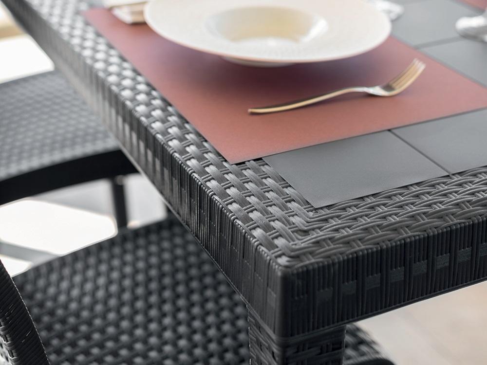 Ratanea-B Jedálenský stôl ARLON Farba: čokoládová