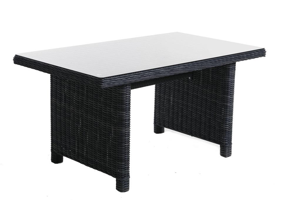 Ratanový jedálenský stôl SANTIAGO Farba: svetlosivý melír