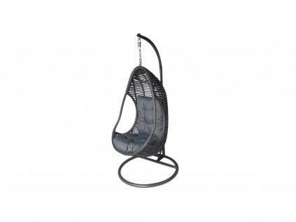 AMANDA I - ratanové houpací závěsné křeslo - tmavě šedé