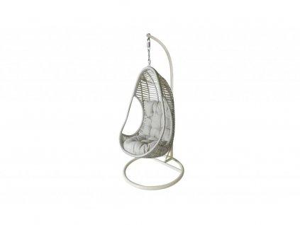 AMANDA II - ratanové houpací závěsné křeslo - světle šedé