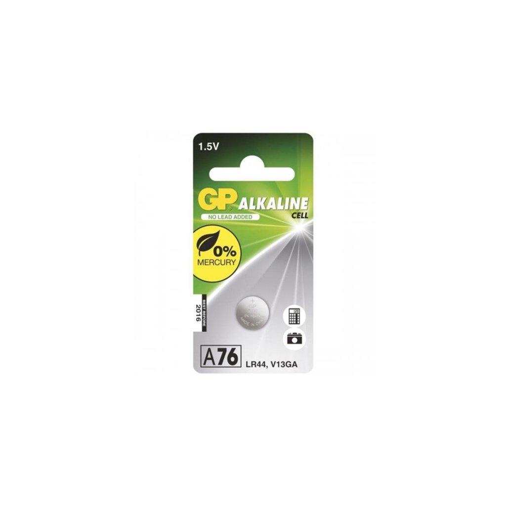 baterie alkalicka gp lr44 a76f blistr 1ks
