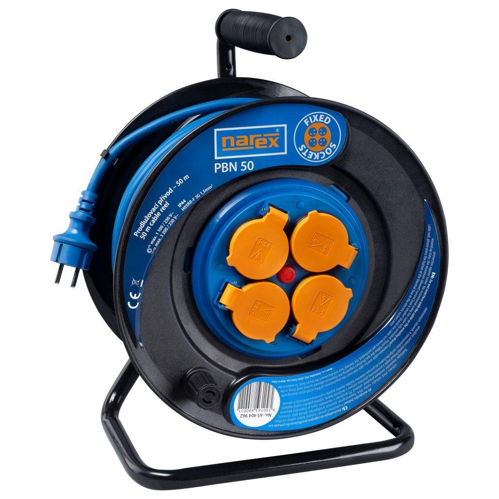 pbn 50 gumovy prodluzovaci kabel narex na bubnu 50 m 65404962