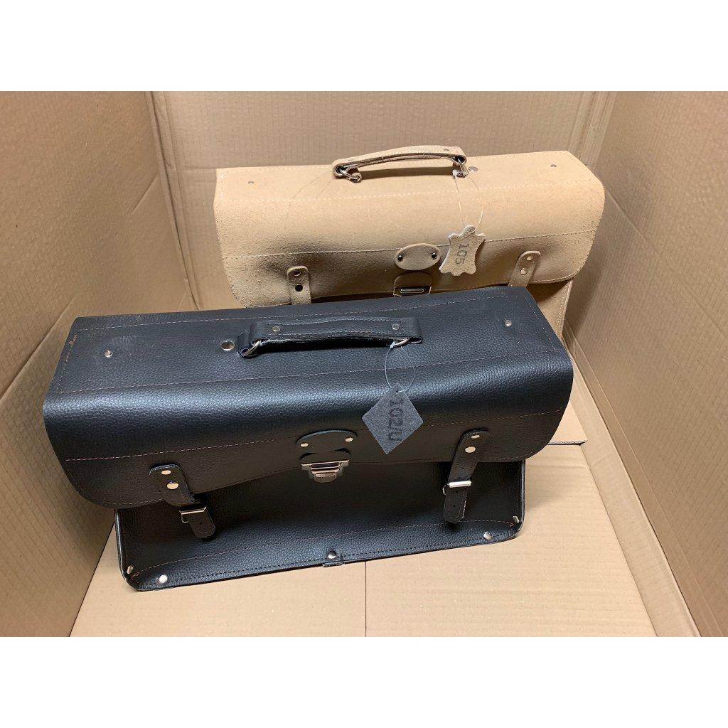 Brašna rozkládací kufřík - přírodní hovězí kůže