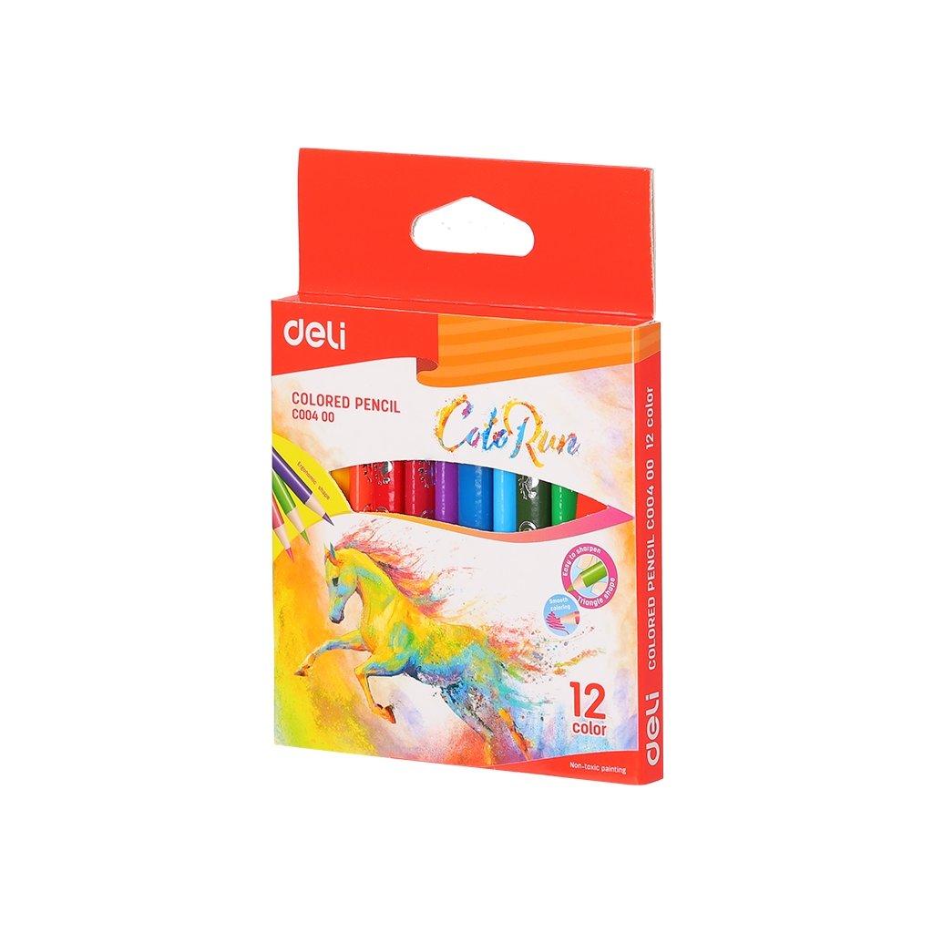 mini colored pencils 120mm deli colorun 12 colors original 6717