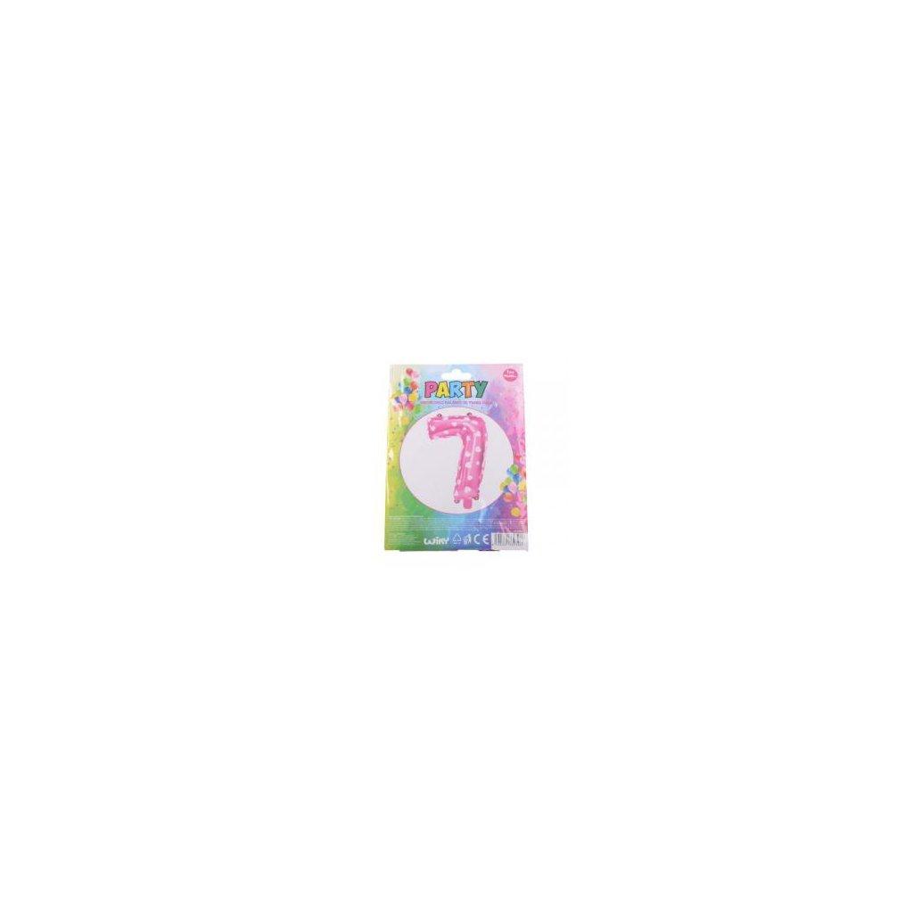 Balónek růžový, číslice 7