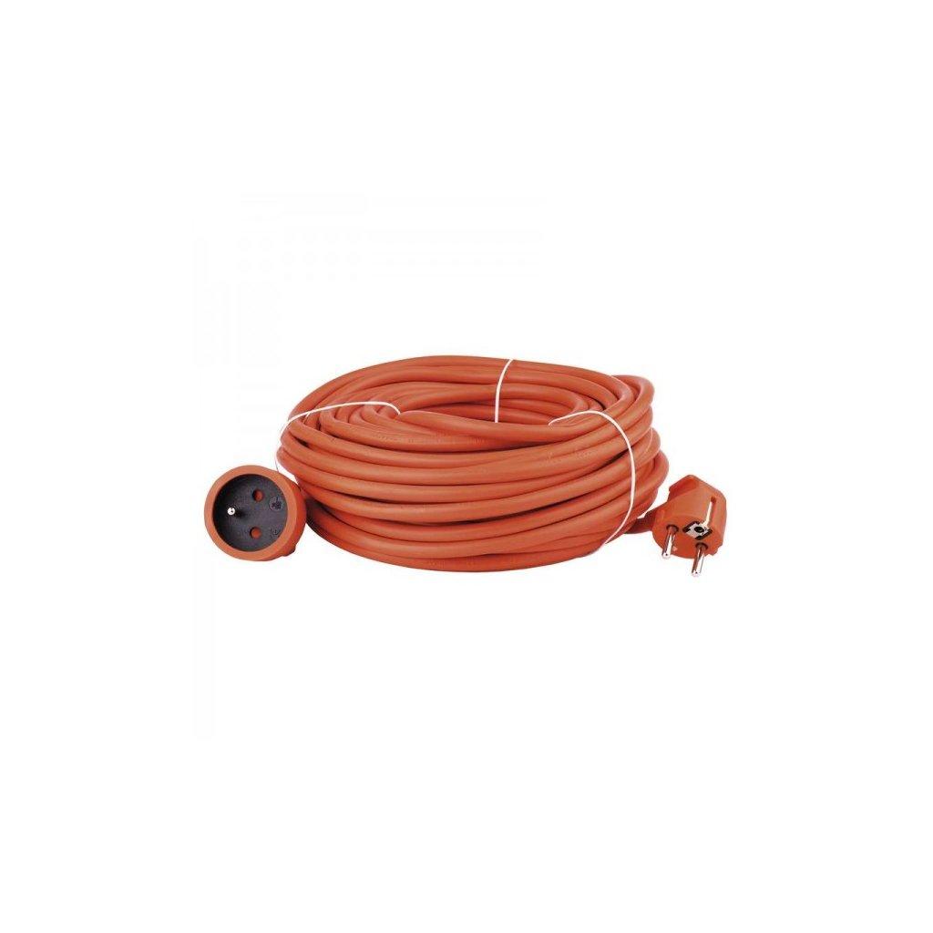 prodluzovaci kabel oranzovy spojka 30 m pvc p01130 emos em p01130
