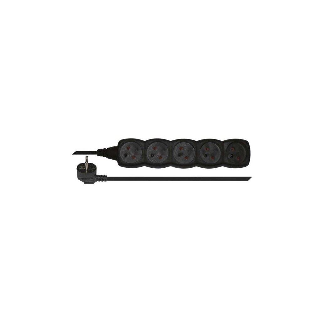 prodluzovaci kabel 5 zasuvek 3m cerny 1902250300