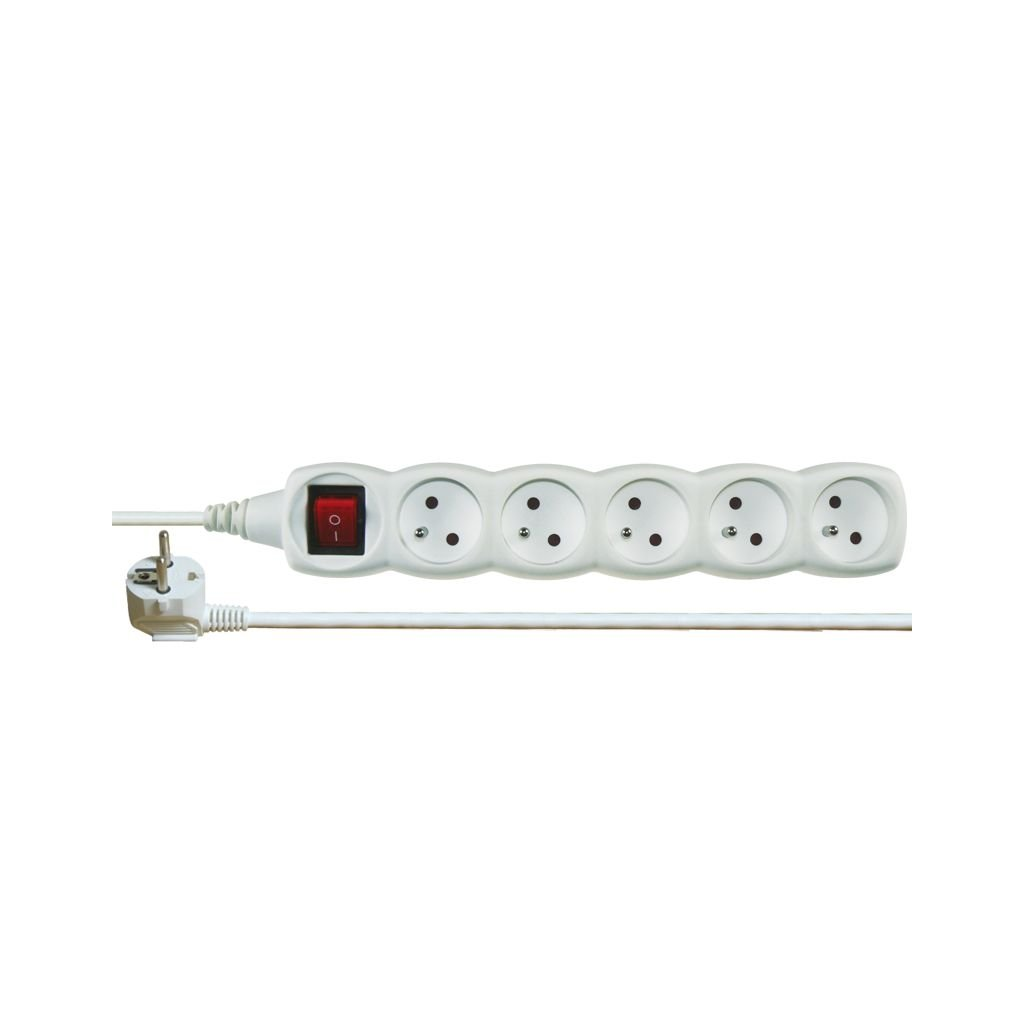 emos 1902150200 p1512 kabel prodluzovaci 230v s vypinacem 5 zasuvek delka kabelu 2m f3g 1 0mm2 ie194943