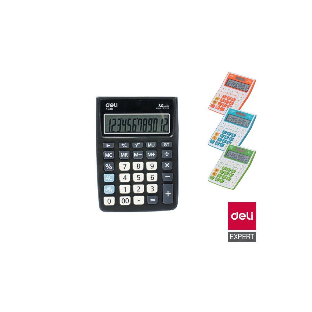 Kalkulačka Deli E1238 12-ti místný displej