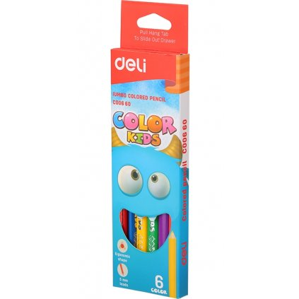color pencils deli stationery color kids 6 colors original 6710