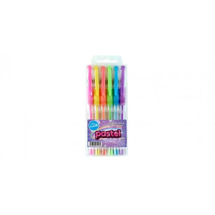 gelove pero sada 6 barev pastel mix barev