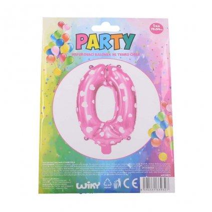 Balónek růžový, číslice 0