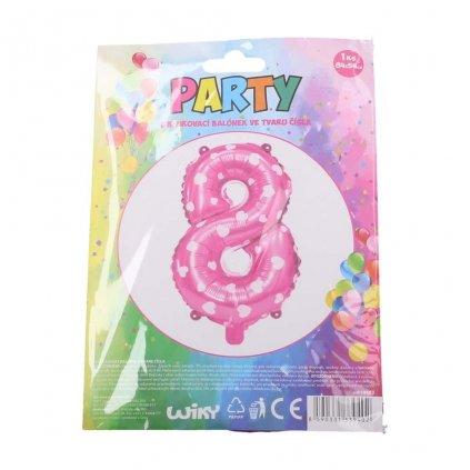 Balónek růžový, číslice 8