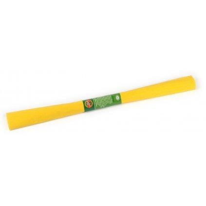 Krepový papír, žlutý